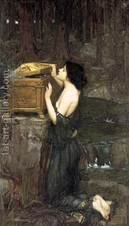 Waterhouse: Pandora  1896 - reproduction oil painting
