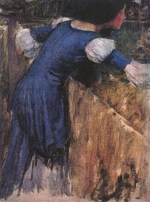 Reproduction oil paintings - Waterhouse - Picking Flowers study 1900
