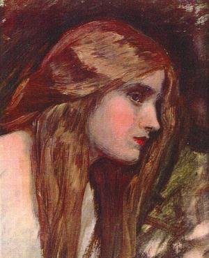 Reproduction oil paintings - Waterhouse - Phyllis study  1907