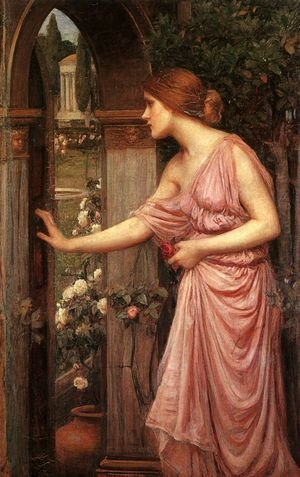 Pre-Raphaelites painting reproductions: Psyche Opening the Door into Cupids Garden 1904