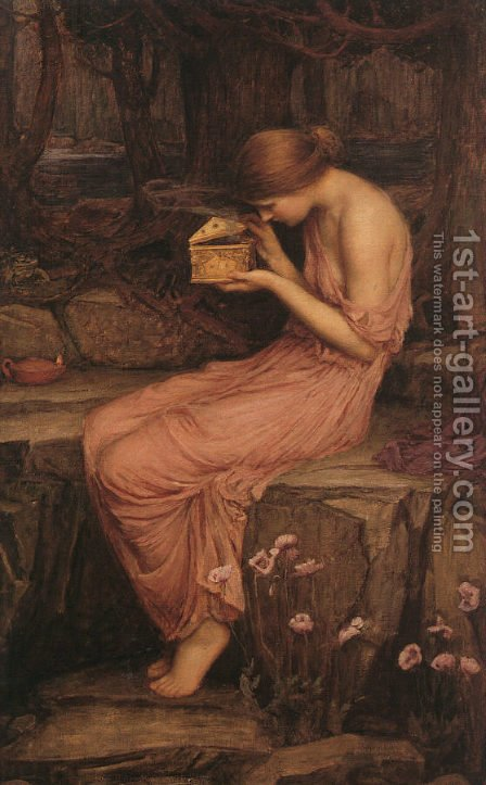 Waterhouse: Psyche Opening the Golden Box  1903 - reproduction oil painting