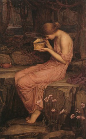 Reproduction oil paintings - Waterhouse - Psyche Opening the Golden Box  1903