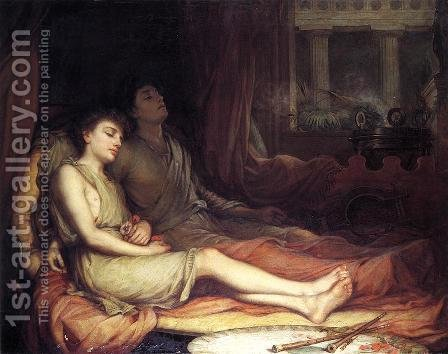 Waterhouse: Sleep and his Half-brother Death  1874 - reproduction oil painting