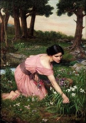 Reproduction oil paintings - Waterhouse - Spring Spreads One Green Lap of Flowers 1910