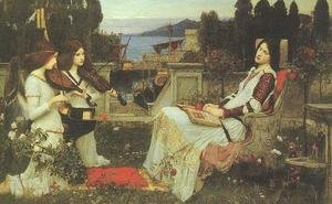 Reproduction oil paintings - Waterhouse - St Cecilia 1895