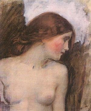 Reproduction oil paintings - Waterhouse - Study for the Head of Echo  1903