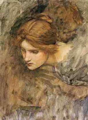 Reproduction oil paintings - Waterhouse - Study for the Head of Venus