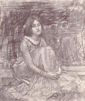 Reproduction oil paintings - Waterhouse - Study of a Girl  1908 2