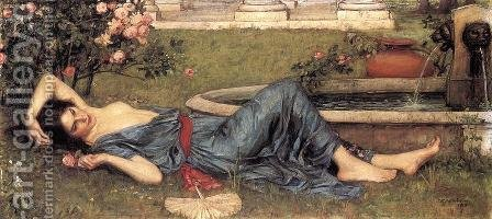 Waterhouse: Sweet Summer 1912 - reproduction oil painting