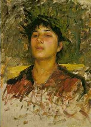 Reproduction oil paintings - Waterhouse - Study of the Head of a Corsican Boy