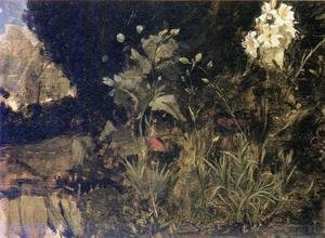 Reproduction oil paintings - Waterhouse - Study of Lilies, Poppies and Carnations  1916