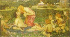 Reproduction oil paintings - Waterhouse - The Awakening of Adonis study  1900