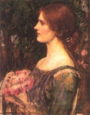 Reproduction oil paintings - Waterhouse - The Bouquet study 1908