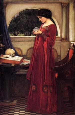Reproduction oil paintings - Waterhouse - The Crystal Ball  1902