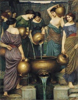 Reproduction oil paintings - Waterhouse - The Danaides 1906