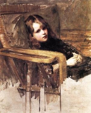 Reproduction oil paintings - Waterhouse - The Easy Chair