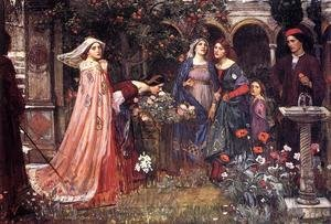 Reproduction oil paintings - Waterhouse - The Enchanted Garden  1916