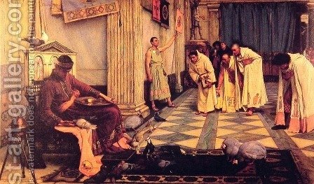 Waterhouse: The Favourites of the Emperor Honorius  1883 - reproduction oil painting