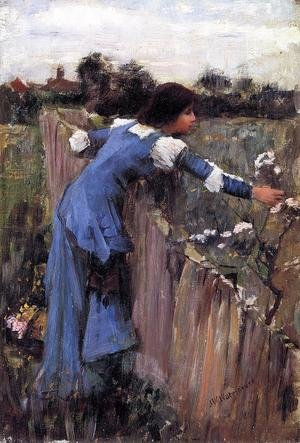 Reproduction oil paintings - Waterhouse - The Flower Picker study 1900