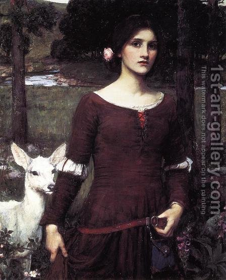 Waterhouse: The Lady Clare 1900 - reproduction oil painting