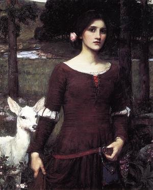 Reproduction oil paintings - Waterhouse - The Lady Clare 1900