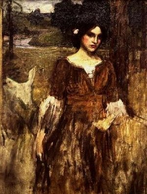 Reproduction oil paintings - Waterhouse - The Lady Clare  1900 2