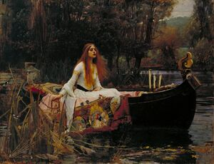 Famous paintings of Ships & Boats: The Lady of Shalott  1888