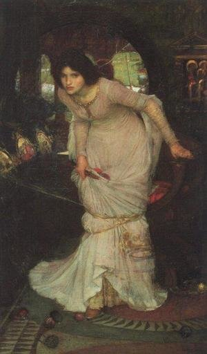 Reproduction oil paintings - Waterhouse - The Lady of Shalott  1894