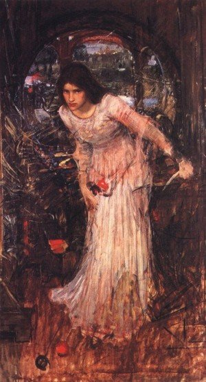 Reproduction oil paintings - Waterhouse - The Lady of Shalott study  1894