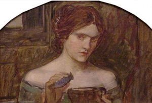 Reproduction oil paintings - Waterhouse - The Love Philtre study  1914