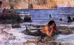 Famous paintings of Fireworks: The Merman 1892