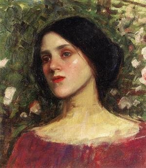 Reproduction oil paintings - Waterhouse - The Rose Bower  1910