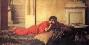 Reproduction oil paintings - Waterhouse - The Remorse of the Emperor Nero after the Murder of his Mother  1878