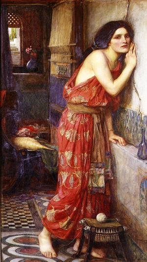 Pre-Raphaelites painting reproductions: Thisbe  1909