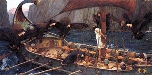 Famous paintings of Ships & Boats: Ulysses and the Sirens  1891