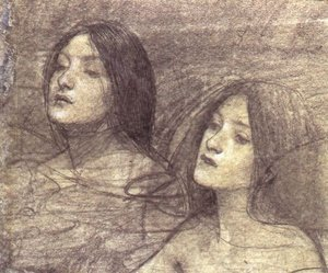 Reproduction oil paintings - Waterhouse - Two Nymphs - study for Hylas and the Nymphs (circa 1896