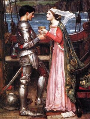 Pre-Raphaelites painting reproductions: Tristram and Isolde  1916 (2)