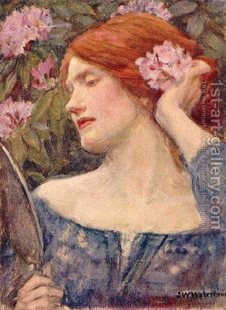 Vanity  1910 by Waterhouse - Reproduction Oil Painting