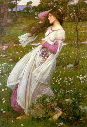 Reproduction oil paintings - Waterhouse - Windflowers  1903