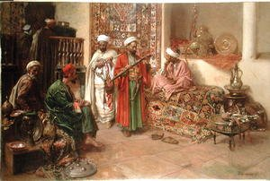 Famous paintings of Furniture: Arabs in an Interior