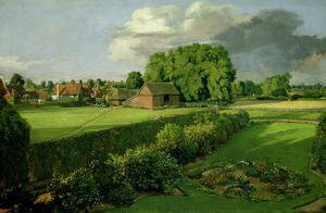 Reproduction oil paintings - John Constable - Golding Constable's Flower Garden, 1815
