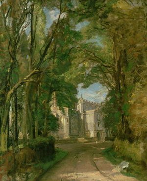 Reproduction oil paintings - John Constable - East Bergholt Church