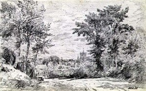 Reproduction oil paintings - John Constable - The Entrance into Gillingham, Dorset