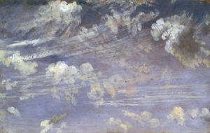 Reproduction oil paintings - John Constable - Study of Cirrus Clouds