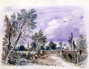 Reproduction oil paintings - John Constable - Milford Bridge