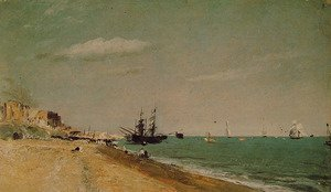 Reproduction oil paintings - John Constable - Brighton Beach with colliers, 1824