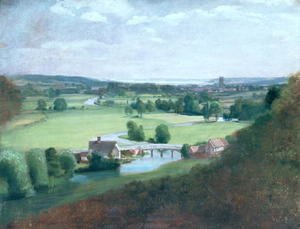 Reproduction oil paintings - John Constable - The Valley of the Stour with Dedham in the Distance, 1836-37