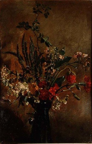 Reproduction oil paintings - John Constable - Study of Flowers in a Hyacinth Glass, 1814