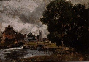 Reproduction oil paintings - John Constable - Dedham Lock and Mill