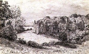 Reproduction oil paintings - John Constable - Netley Abbey,1888